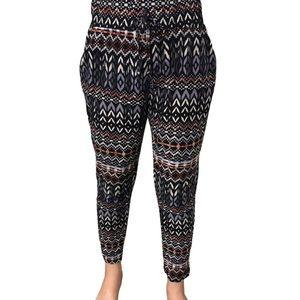 Shosho girls high waisted pants with pockets 8/10M
